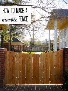 How to make a marble fence (via @thecraftblog )