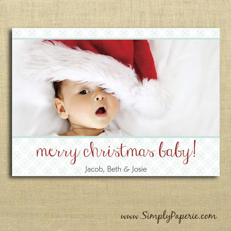 baby's first christmas card photo ideas - Hľadať Googlom