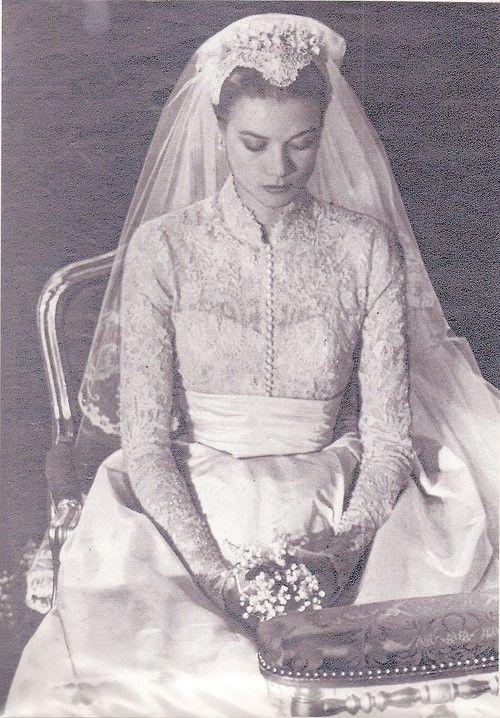 Princess Grace On Her Wedding Day - April 19, 1956