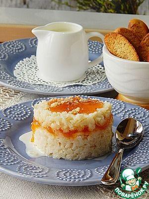 Сливочная рисовая каша с джемом