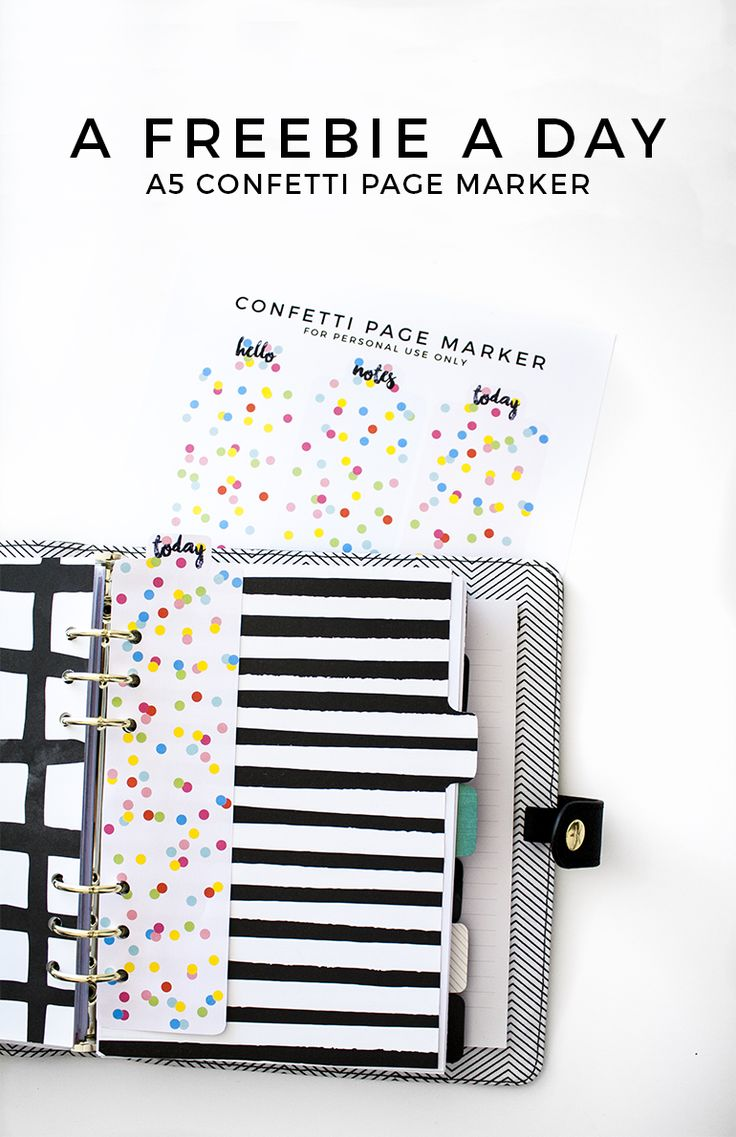 Free Confetti Page Markers