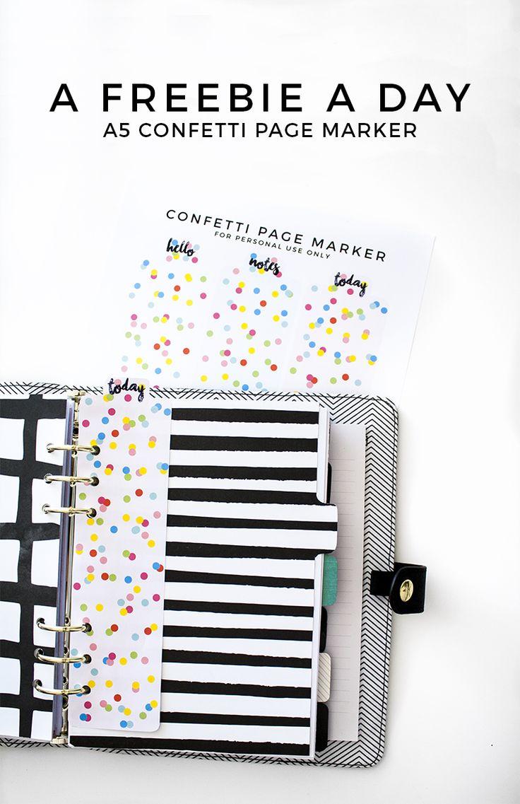 Free Confetti Page Markers