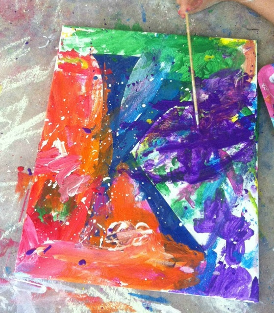 Afternoon Painting Project for kids