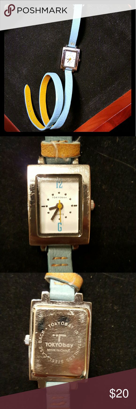 =sale= Tokyo bay watch It needs new battery and works in great condition. Real leather! Offer is welcomed! Jewelry