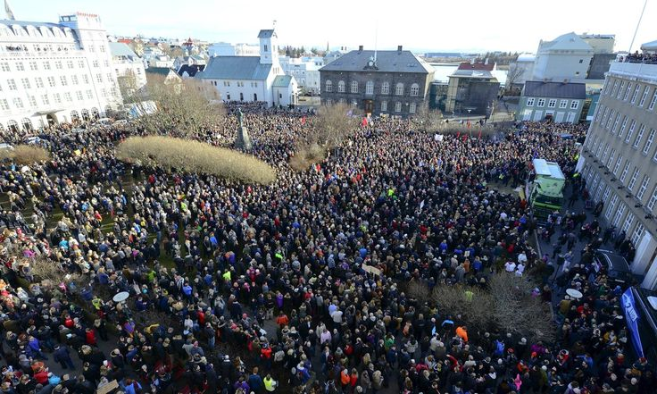 Protests in Reykjaviík
