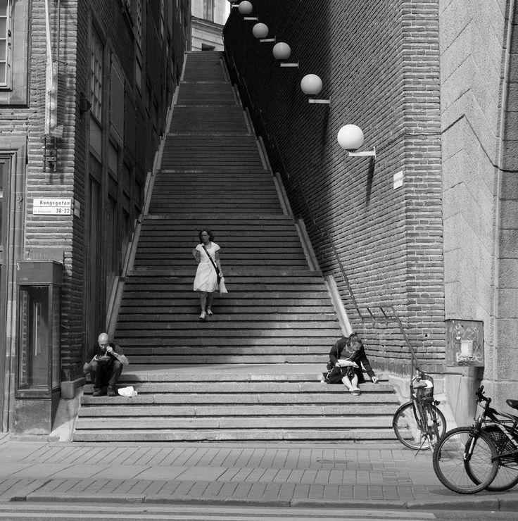Stairs from Kungsgatan to Malmskillnadsgatan, Stockholm, SE