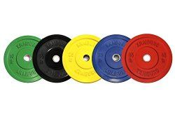 Kraiburg 260 lb Premium Color Weight Set Olympic Rubber Bumper Plates for Crossfit Powerlifting