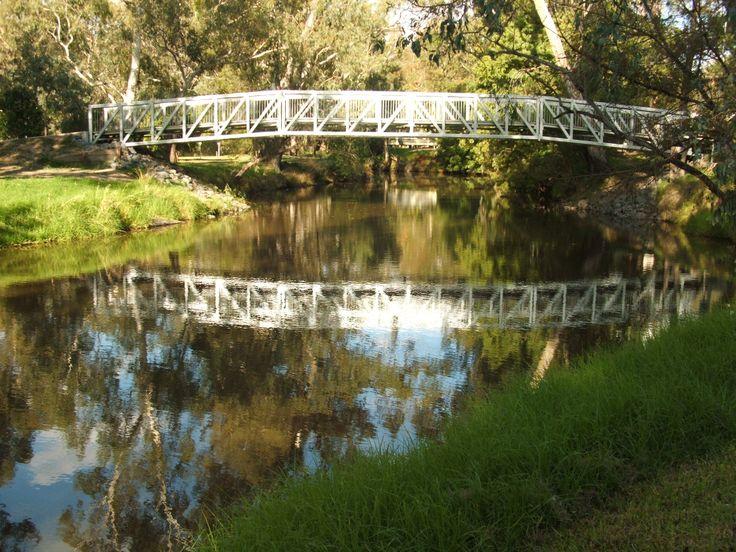 The new bridge over the Seven Creeks at Euroa, Victoria