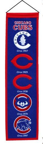 Chicago Cubs Heritage Banner by Winning Streak Sports   Sports World Chicago $29.95