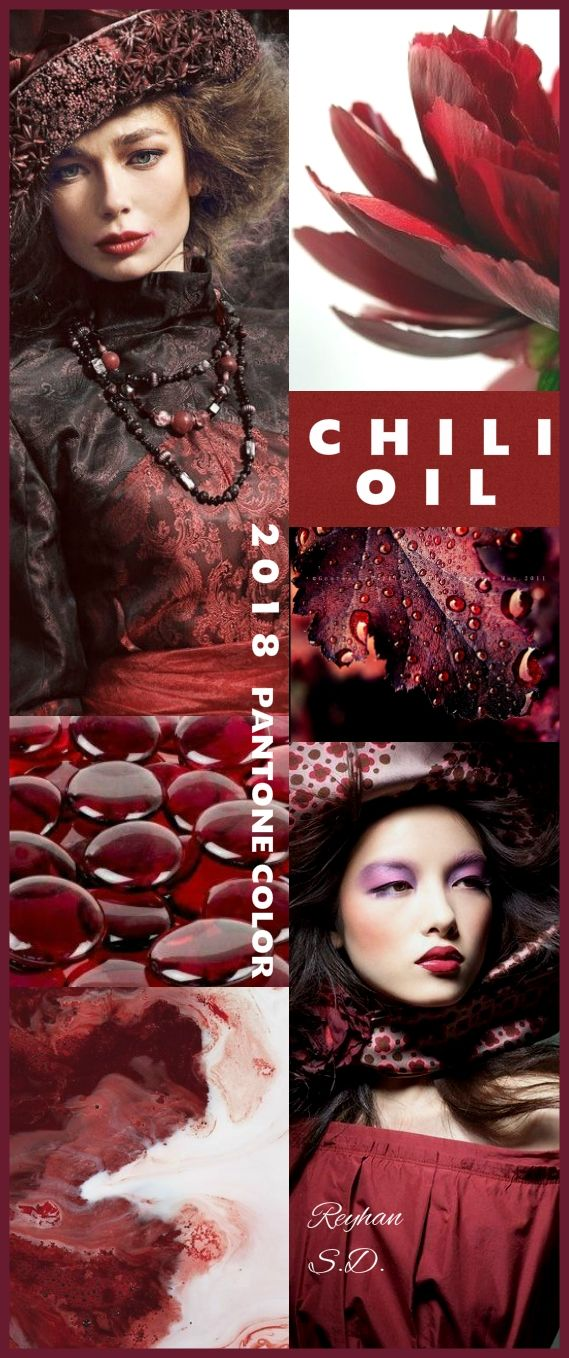 '' Chili Oil - 2018 Pantone Color '' by Reyhan S.D