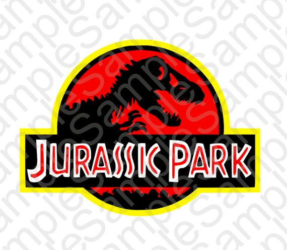 Jurassic Park Inspired Logo Silhouette Svg And By