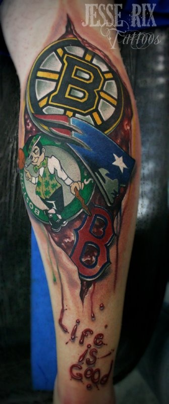 I DO NOT like ANY Boston team - but this tat is fantastic!!