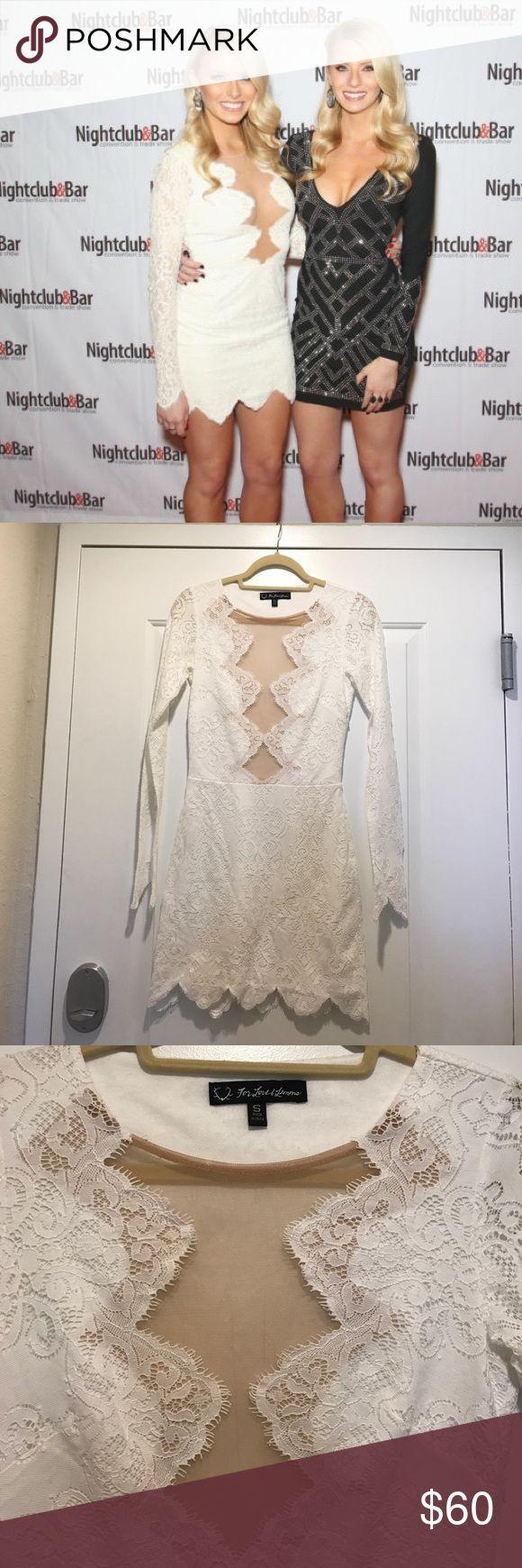 For Love & Lemons white dress For Love & Lemons white Dress. As seen on the Bachelor contestant Haley Ferguson! Only worn once and has been dry cleaned. For Love and Lemons Dresses Mini