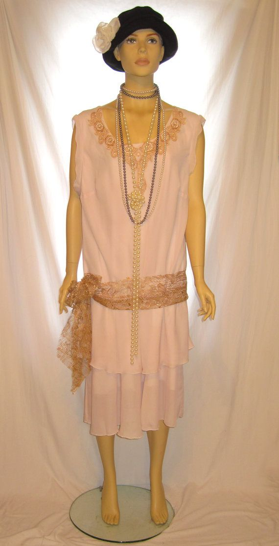 Light Pink blush color plus size The Great Gatsby dress ...