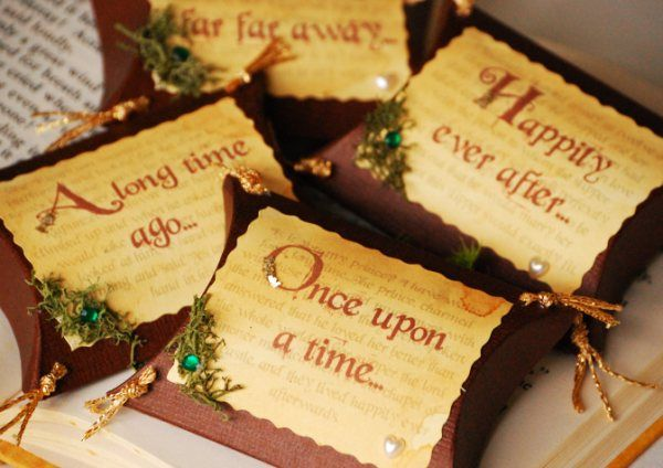 "These are adorable! Not sure that I would be able to tie anything into my wedding like that, but good idea for anyone doing a ""fairytale"" wedding."