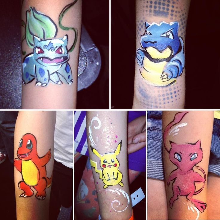 Recent #facepainting event with @homeenergyscotland. Arm's painting rules! #bulbasaur #pikachu #pokemongo #pokemon #pokémon #charmander #uhh #mewtwo #blastoise #rubyroo #mew