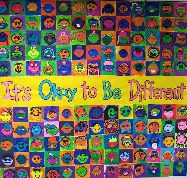Y'all. I realized recently that I never shared the finished product of our Todd Parr inspired It's Okay to be Different mural. Which wasn't an accident. It's been on my To-Do list to finish this beast