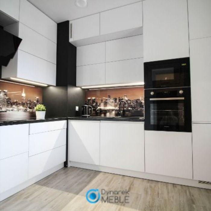 Biale Meble Kuchenne Z Grafika Kitchen Decor Home