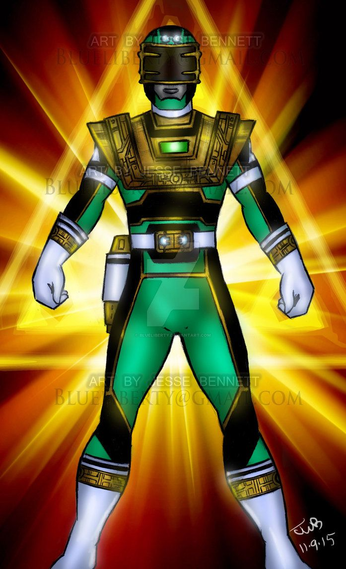 Turbo Green Zeo Gold Ranger Fusion (comission) By