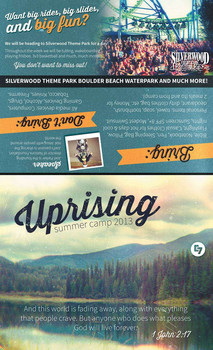 Best Camp Brochures Images On   Brochures Pine And