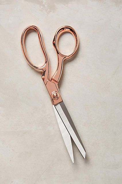 Rose Gold Handled Scissors make a pretty desk accessory!