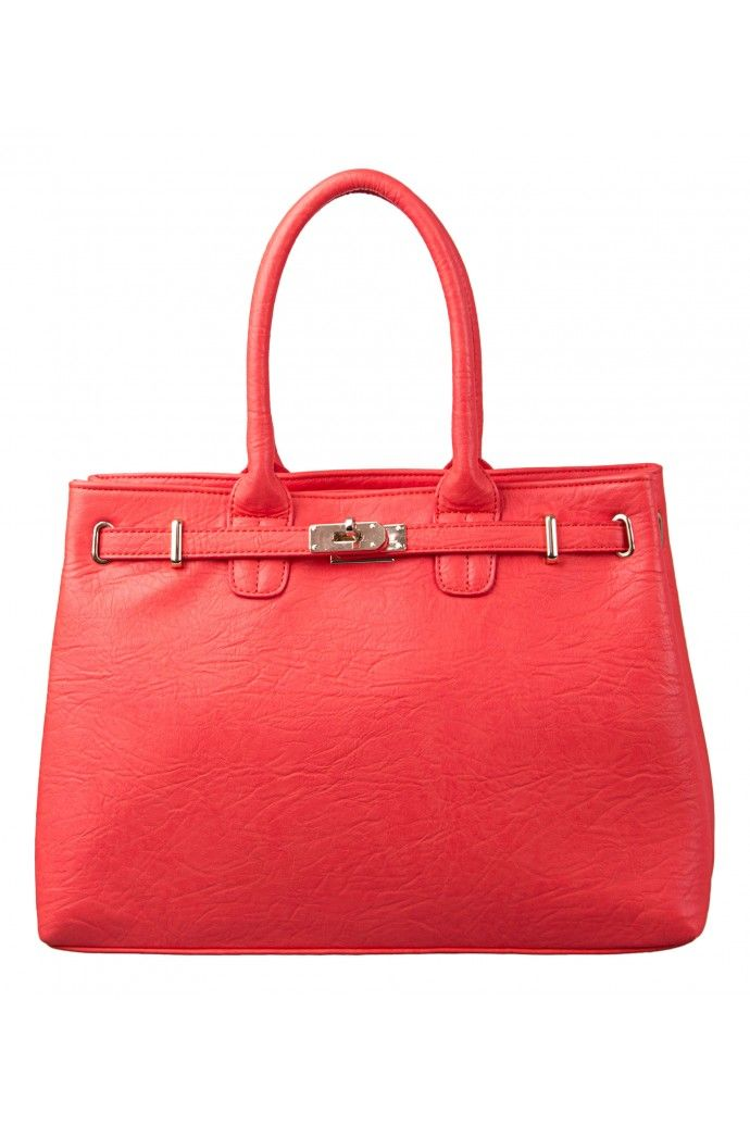 Jenae Structured Belt Tote in CORAL #9609 - colette by colette hayman