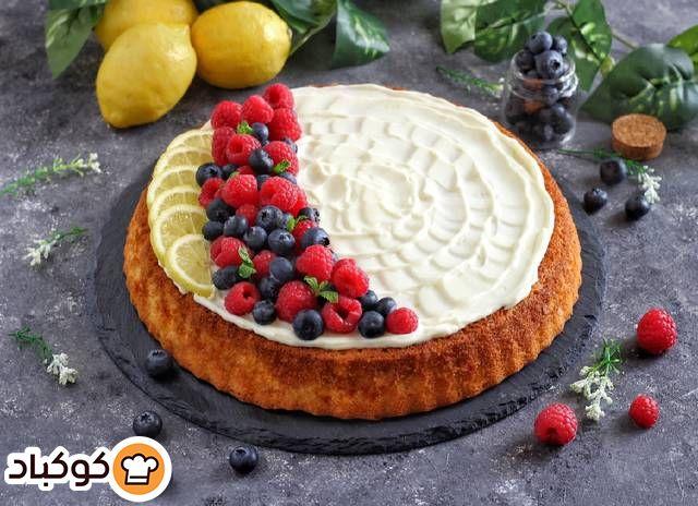 كيكة الليمون بكريمة الجبنة بالصور من Mais Al Mahsiri Recipe Baking Food Desserts