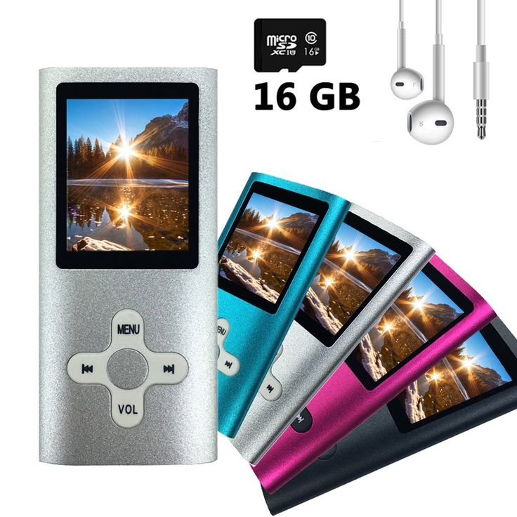 Wyne Technology 16GB MP3 MP4 Player with Assorted Micro SD Slot Fashion Durable Portable Music Player Energy Saving FM Radio Turner Video Player Photo Viewer Voice Recorder (Silver)