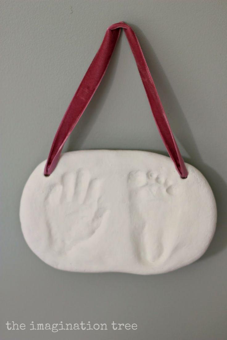 salt dough handprint plaque.