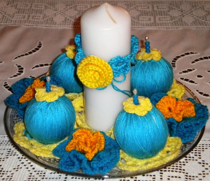 LIGHTH BLUE EASTER CENTERPIECE 2016