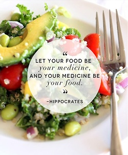 Let food be thy medicine - Hippocrates #foodphilosophy