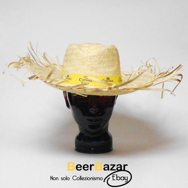 € 6,90 Cappello paglia Birra Corona tesa larga frange estate party donna uomo 59 L kit  Vedi altro su: http://stores.ebay.it/BEERBAZAR