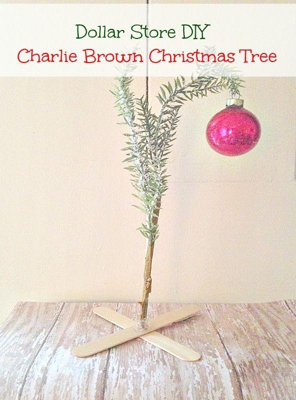 DIY Dollar Store Charlie Brown Christmas Tree