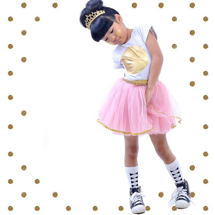 Everything is golden in a Golden Dress and Rock Your Baby Loves Stardust Headband. Socks by Hubble & Duke. | Rock Your Kid summer 14 / 15 |
