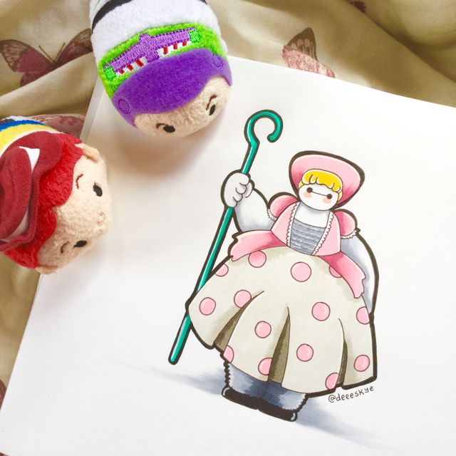 Little Baymax Peep by DeeeSkye on DeviantArt. Baymax dressed as Little Bo Peep from Toy Story