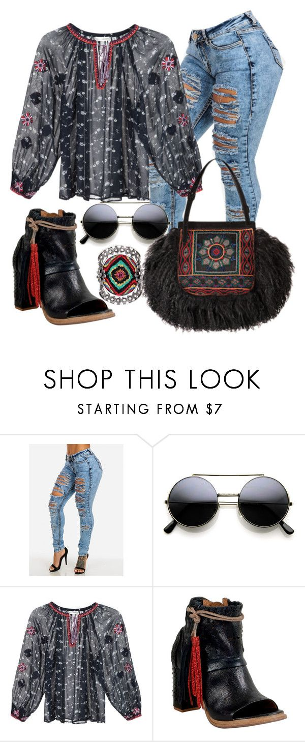 """""""Boémio"""" by alice-fortuna ❤ liked on Polyvore featuring Ulla Johnson, Yves Saint Laurent, A.S. 98 and Valentino"""