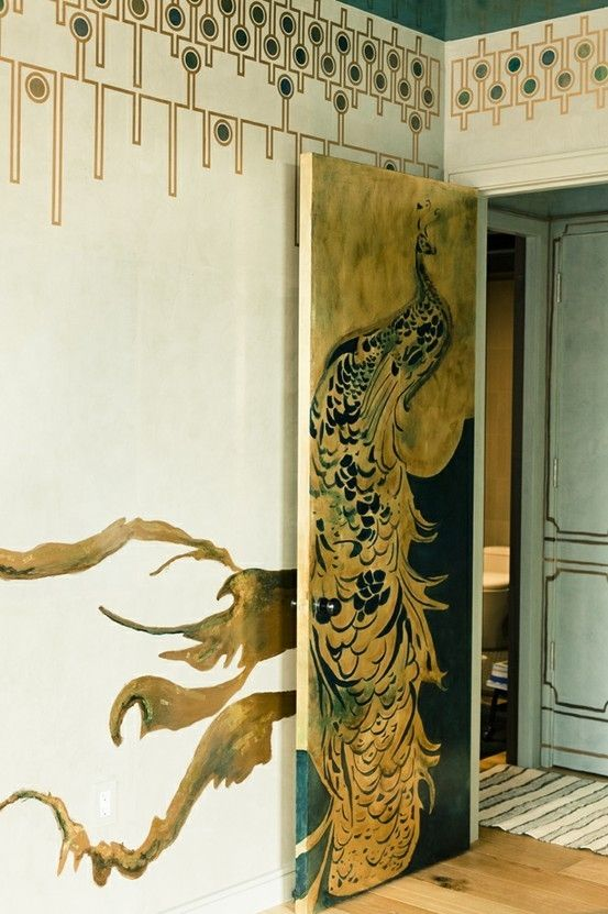 Art Deco was the inspiration behind our Christmas decorating story - think opulent gold and blues and decorative pattern.