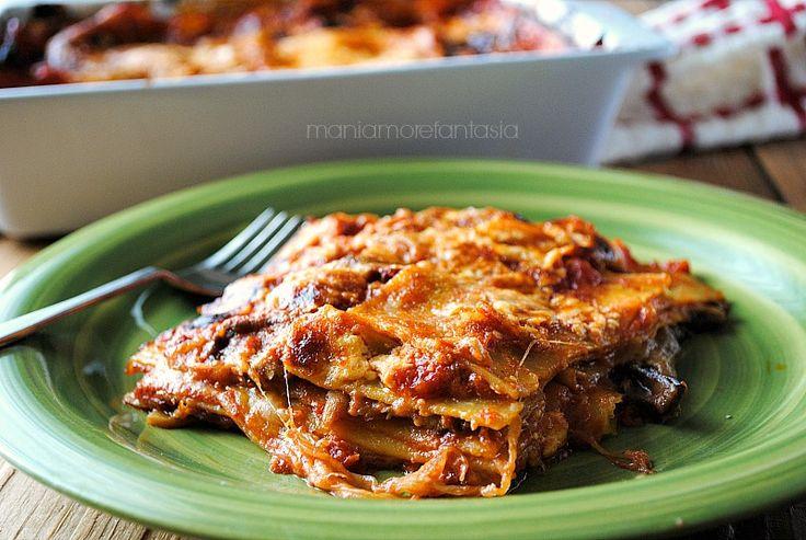 Lasagne+con+melanzane+pomodoro+e+mozzarella