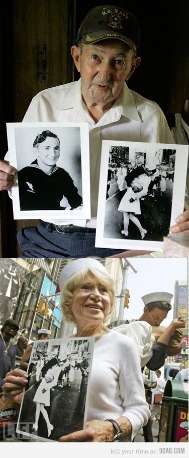 The famous kiss. World War II