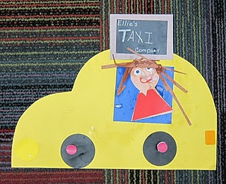 super cute taxi art project for community helpers theme