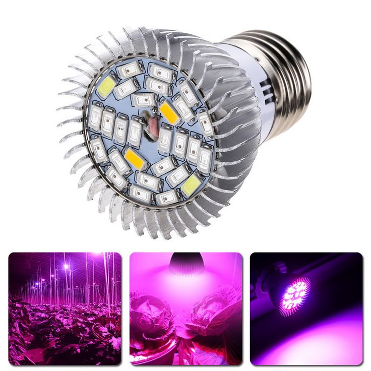 Jardín Planta E27 18 28 LED Grow Light Bulb Luces de bulbo de espectro completo Indoor Plantas Crecimiento de hortalizas de invernadero