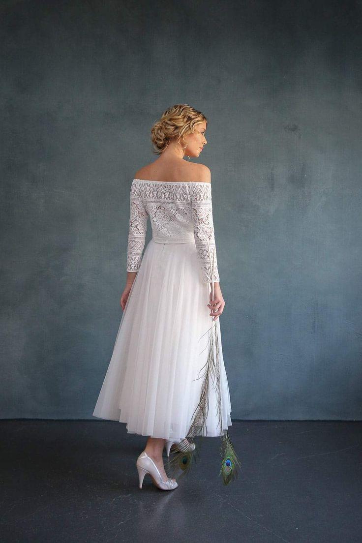 Midi Tullrock In Ivory Fur Die Hochzeit Christy In 2020 Brautkleid Spitze Braut Tullrock