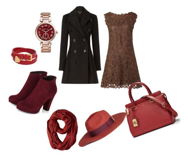 """Red Autumn"" by love666x on Polyvore featuring moda, Burberry, Lauren Ralph Lauren, Smartwool, H&M, Michael Kors, Valentino, autumn, autumnstyle y redautumn"