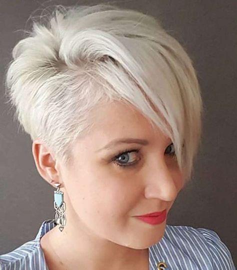 Schneeweiße Haare! 10 kurze Schnitte in wunderschönen