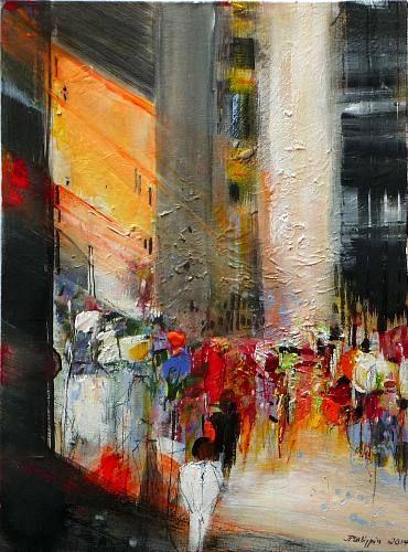 """Philippin, Inge, """"Pedestrian 4"""" (45) Mit einem Klick auf 'Als Kunstkarte versenden' versenden Sie kostenlos dieses Werk Ihren Freunden und Bekannten."""