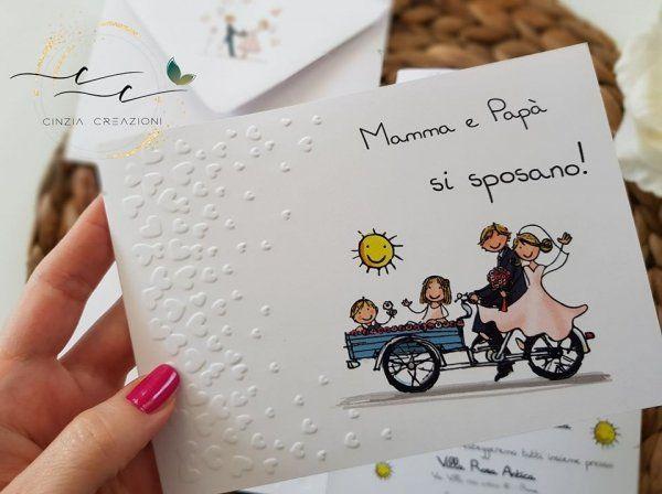 Partecipazione Matrimonio Simpatica Figli Annunciano Cinzia Creazioni Nel 2020 Partecipazione Bomboniera Matrimonio