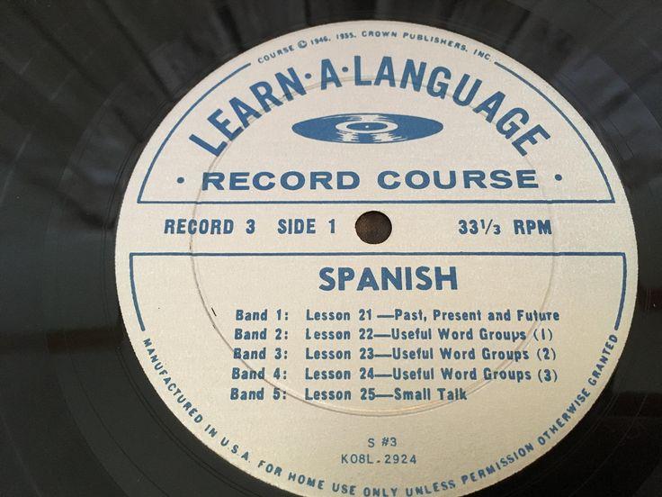 Learn Spanish Conversational Spanish Course S3 Vinyl Record
