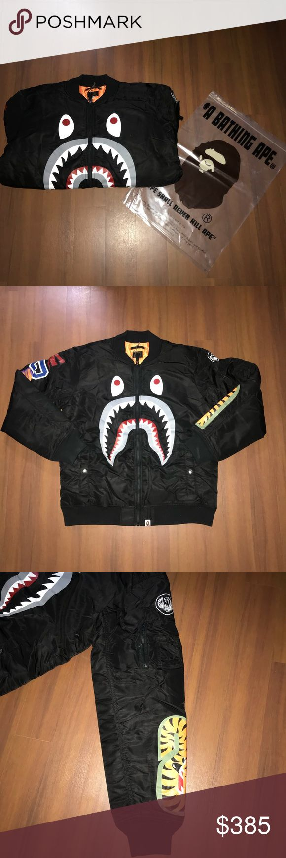 BAPE BLACK SHARK BOMBER FLIGHT JACKET No trade. For sale