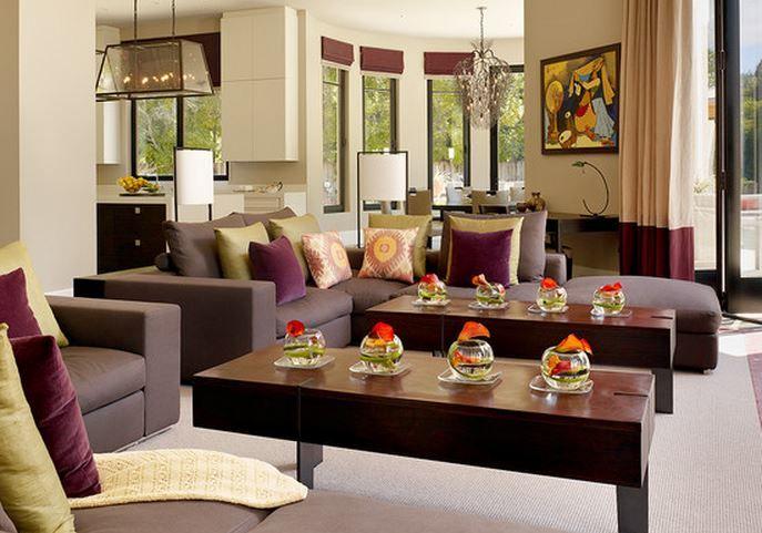 deco maison interieur rose prune | idee salon | Pinterest