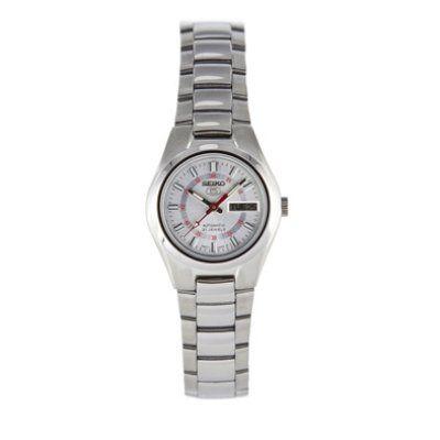 Seiko Women's SYMC21 Seiko 5 Automatic Silver Dial Stainless Steel Watch